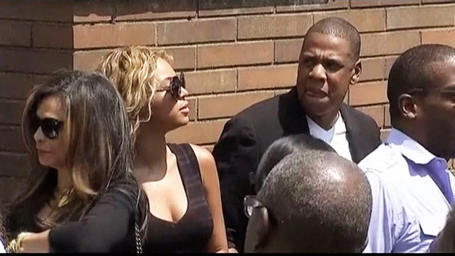 Beyonce and Jay Z attend Trayvon Martin rally in NYC