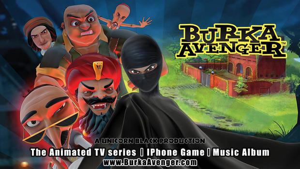 "A poster image for the new Pakistani superhero show ""Burka Avenger"""