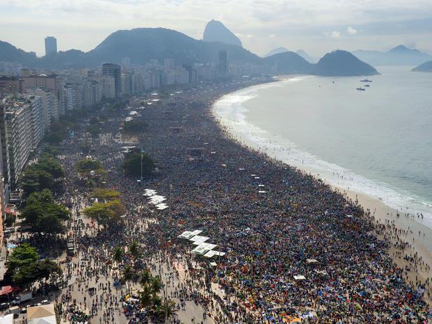 Copacabana, pope, brazil