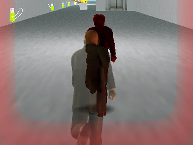 "Edward Snowden is pursued by Agent Jake in the video game ""Snowden Run 3D."""