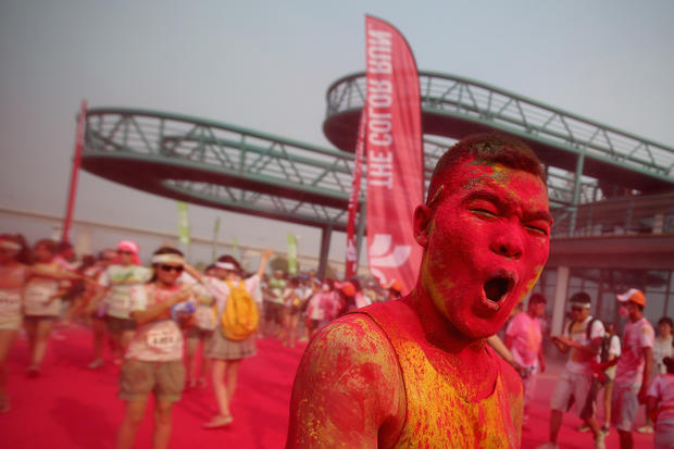 Beijing's first color run