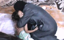 Syrian mother says goodbye to children after reported gas attack