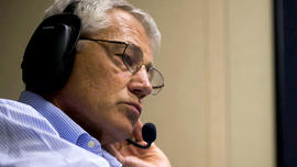 Secretary of Defense Chuck Hagel speaks on the phone with his counterparts in Britain in France Tuesday, August 27, 2013, about a potential attack on Syria.