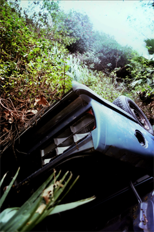 Mulholland Drive car wrecks decay artfully - Photo 1