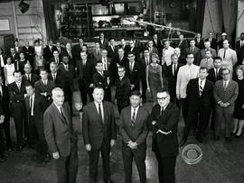 Walter Cronkite and some of his staff.