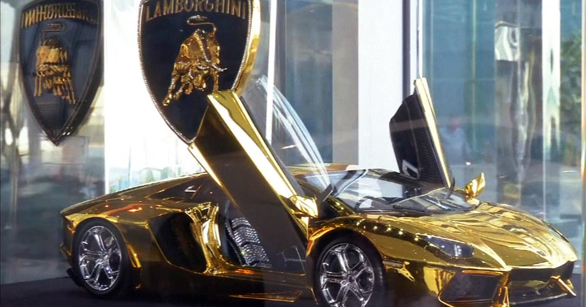 Gold Plated Diamond Encrusted Lamborghini Up For Auction Cbs News