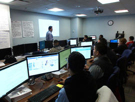 Phone counselors in training at the New York State health exchange call center.
