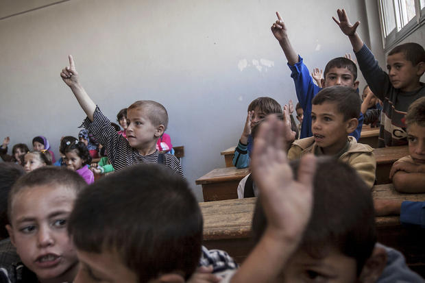 Back to school for some young Syrians