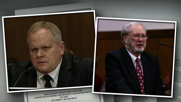 Eric C. Conn, left, and Judge David B. Daugherty.