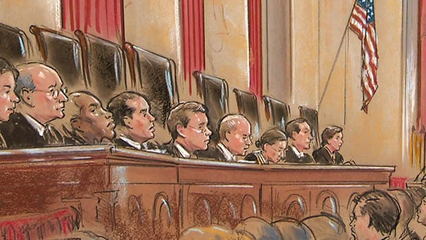 Sharp divisions show how contentious the issue has become for the Supreme Court justices, three years after Citizens United.