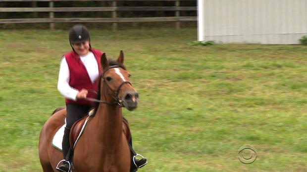 Alice Jowers says she's finally found some relief from the chronic headaches that have interfered with her love for horses and riding.
