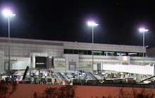 Dry ice bomb explodes at Los Angeles airport terminal