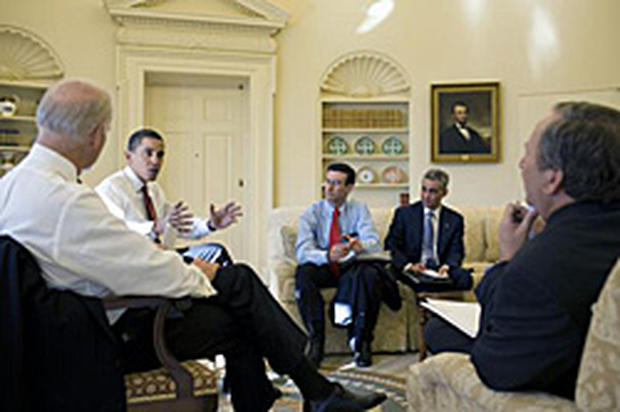 President Obama, Peter Orszag, Rahm Emanuel, Larry Summers
