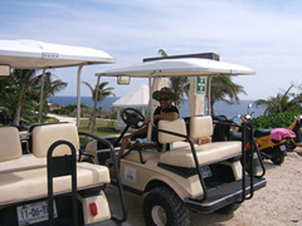 drive the golf cart