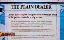 Headlines: Breast milk bought online has high levels of dangerous bacteria