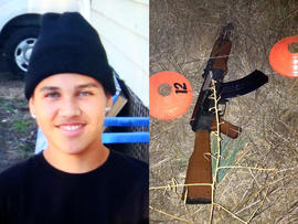 Andy Lopez and the replica assault rifle the 13-year-old was holding when he was shot and killed by two Sonoma County deputies in Santa Rosa, Calif., Oct. 22, 2013, are seen in this combination of pictures provided by the family via The Press Democrat and the Sonoma County Sheriff's Department.