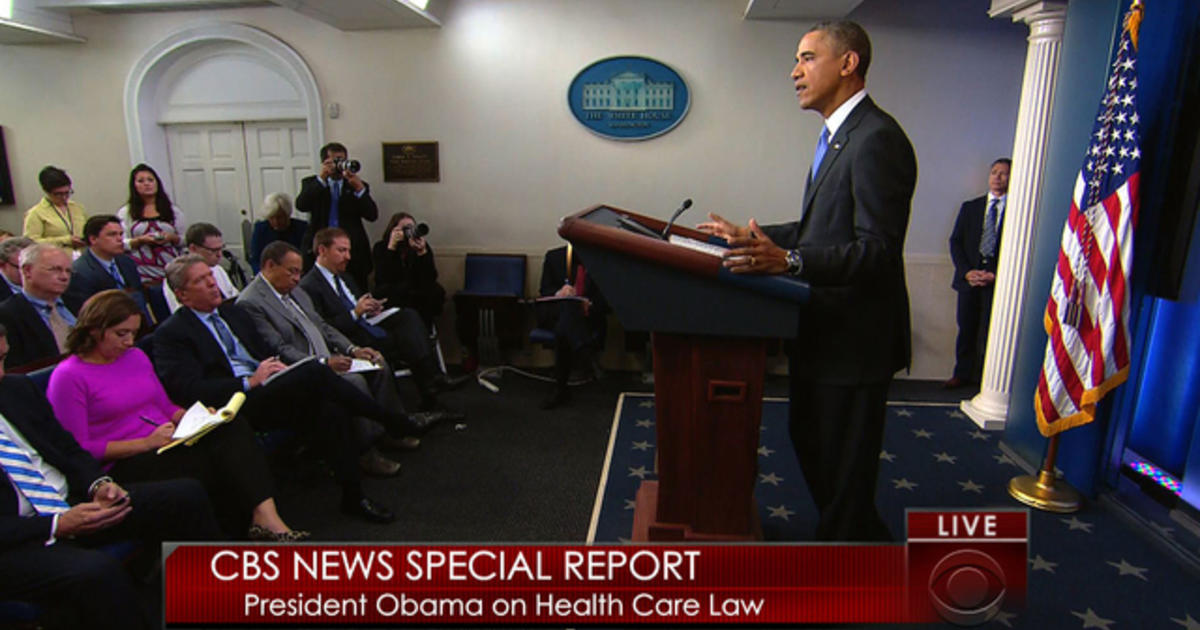 Special Report Obama Announces Health Care Law Changes
