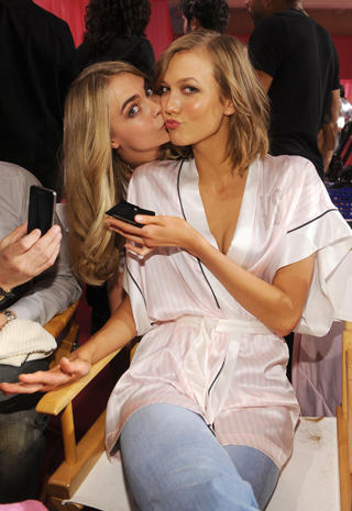 e8881fb05b7ee Cara Delevingne and Karlie Kloss - Victoria's Secret Fashion Show ...