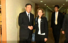 Caroline Kennedy meets with Japanese foreign minister