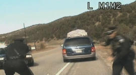 N.M. trooper fires at minivan with five kids