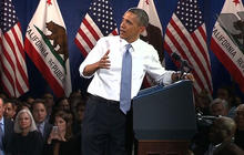 Obama responds to heckler during immigration speech