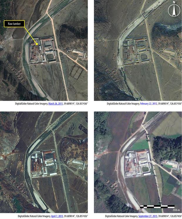 North Korea camp satellite