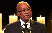 President Jacob Zuma speaks at Mandela's funeral