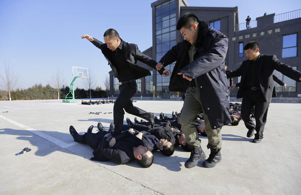 Training bodyguards in China