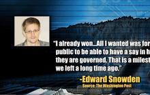 "Snowden: ""I already won"""