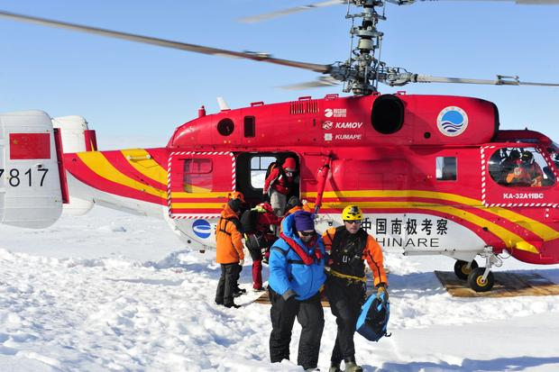 Helicopter rescue for stranded Antarctic ship