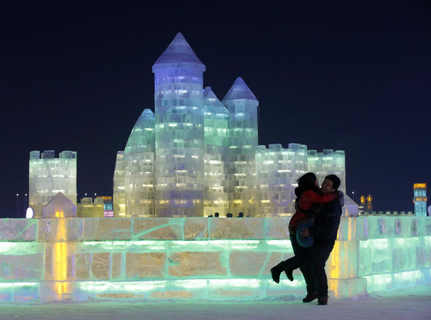 Winter wonderland at ice sculpture festival