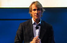 Michael Bay walks off stage at CES after prompter fails