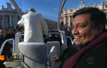 Pope Francis invites priest into popemobile