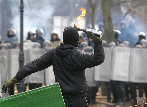 Ukrainian protests grow more violent