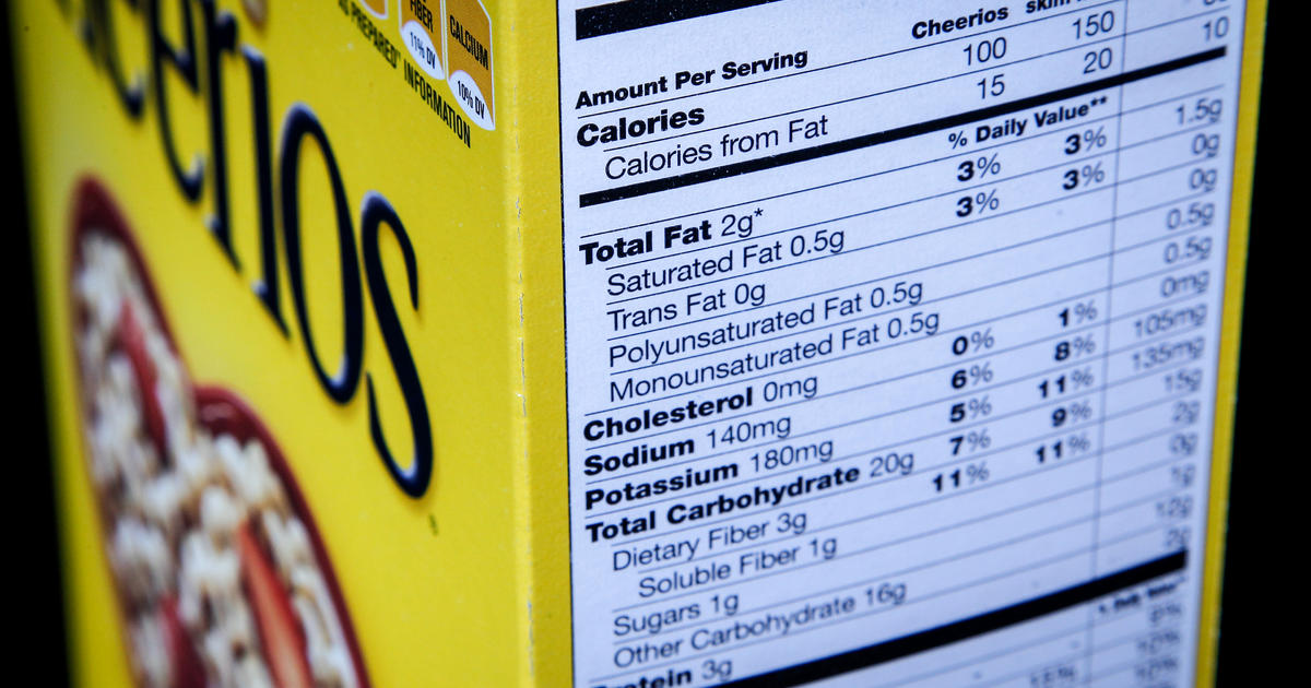 here s how food nutrition labels are about to change cbs news