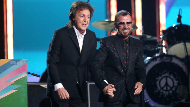 Beatles Reunion Paul McCartney Ringo Starr Reunite At The Grammys