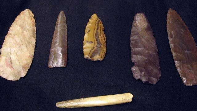 Ancient Clovis culture stone tools artifacts