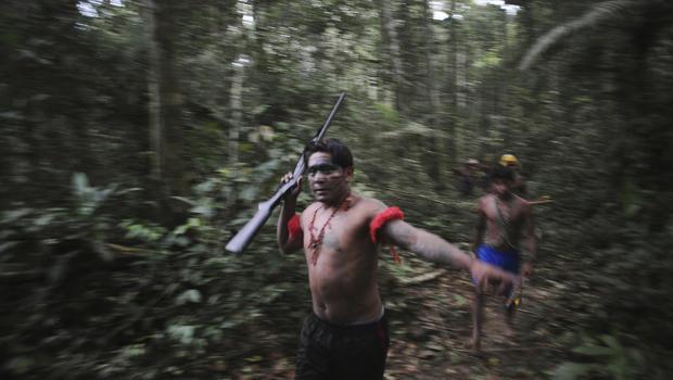 Brazilian tribe fights illegal mining