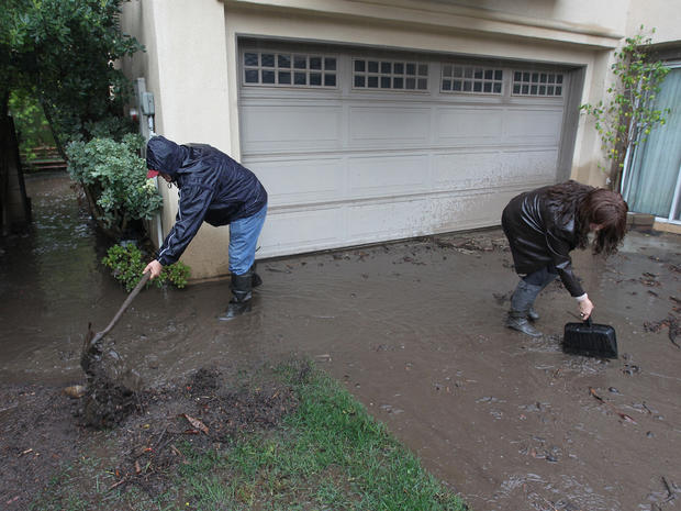 Rain creates rivers of mud in California