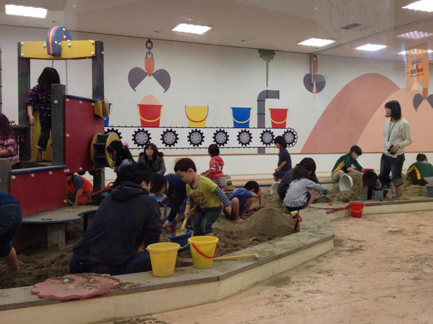 "Children play at the ""Pep Kids Koriyama"" play center in Fukushima prefecture"