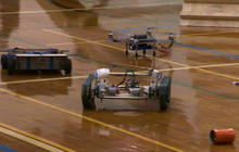 Robots battle in Caltech competition