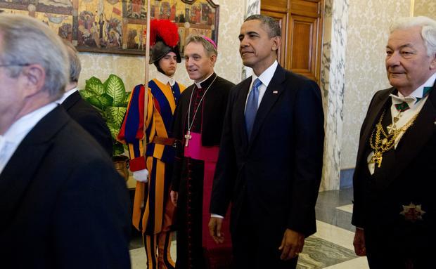 President Obama meets the Pontiff