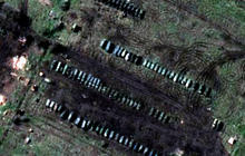 Satellite images show Russian troops digging in along Ukraine border