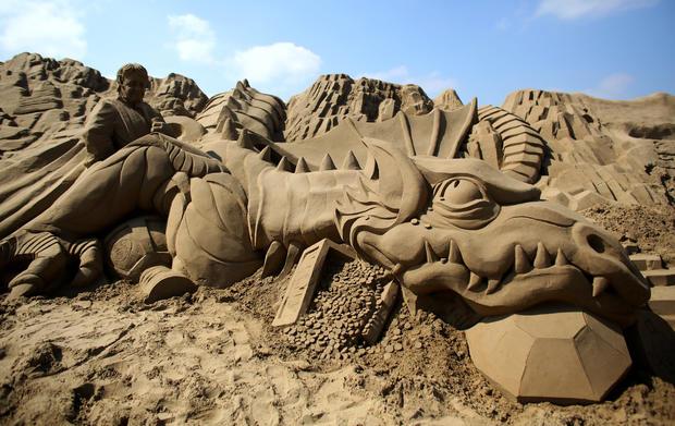 Fantasy sand sculptures
