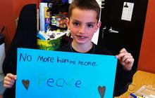 Runners pay tribute to youngest marathon victim