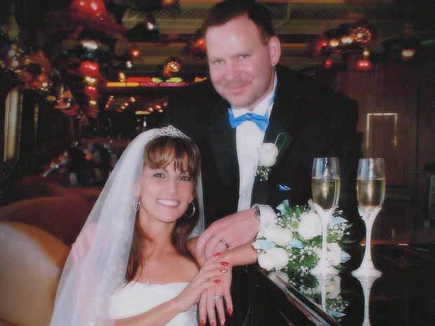 Michele and Greg Williams on their wedding day