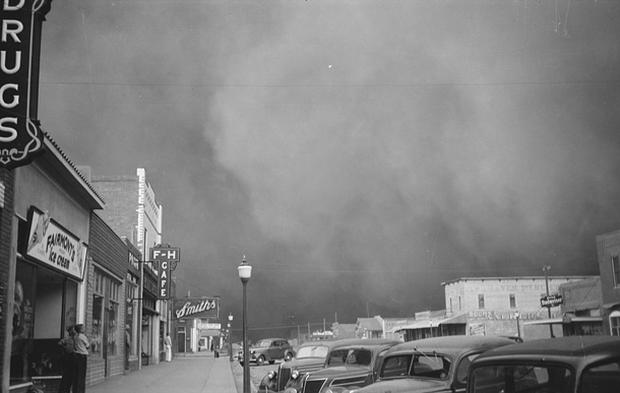 Depression-era dust storms