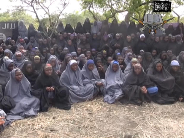 Young women appear in a video produced by Boko Haram