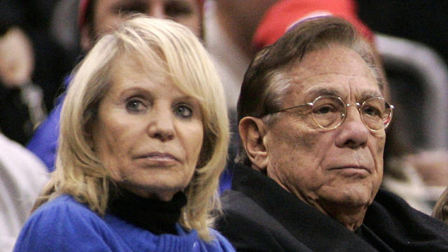 Los Angeles Clippers owner Donald Sterling and wife Shelly at NBA game between Toronto Raptors and Clippers at Staples Center in L.A. in December 2008