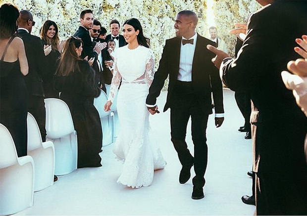 At Kim and Kanye's wedding